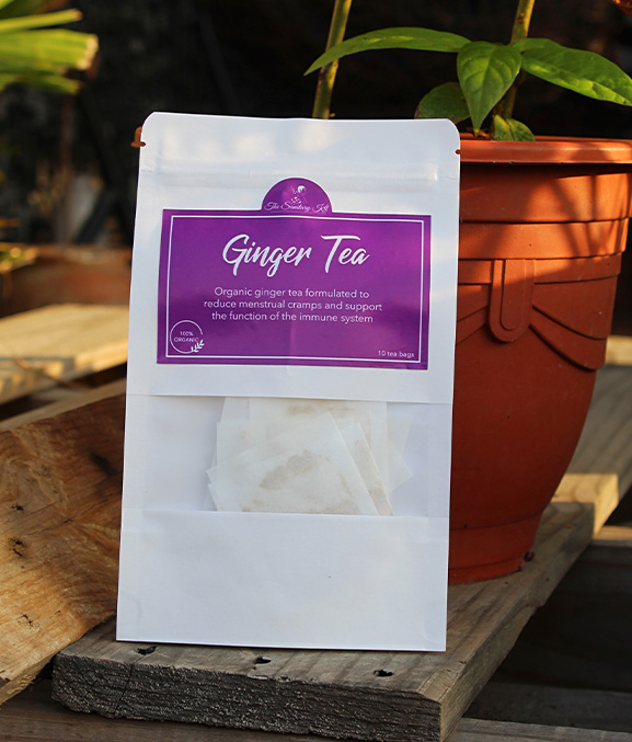 the sanitary kit - ginger tea